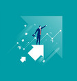 leadership of business vector image vector image