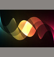 line curve transparent layer abstract background vector image vector image