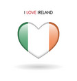 love ireland symbol flag heart glossy icon on a vector image vector image