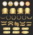 luxury golden design retro vintage elements vector image vector image