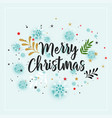 merry christmas winter decoration background vector image