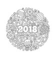 new year mandala with numbers 2018 on winter vector image vector image