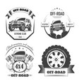 off-road 4x4 extreme car club logo templates vector image