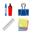 office and supply logo set vector image