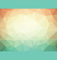 orange green geometric background with triangles vector image vector image