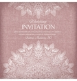 ornamental invitation silver and pastel colors vector image