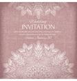 Ornamental invitation silver and pastel colors vector image vector image
