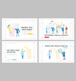 orthopedics healthcare appointment landing page vector image vector image