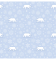 pattern snow polarbear vector image vector image