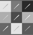pen sign grayscale version vector image vector image