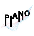 Piano typography music festival poster template
