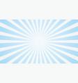 popular white and blue ray starburst sunburst vector image
