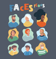 positive people different ages nationalities vector image