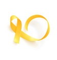 realistic gold ribbon world childhood cancer vector image vector image