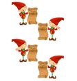 Red Elf Naughty Nice List vector image vector image
