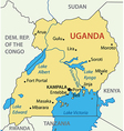 republic uganda - map vector image vector image
