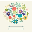 Romantic background of various flowers in retro vector image vector image