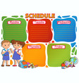 school timetable thematic image vector image vector image