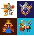 Set Of 2x2 Knight Images vector image