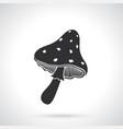 silhouette amanita mushroom vector image vector image