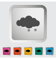 Snow icon vector image vector image