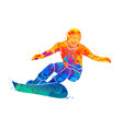 snowboarder jumping sport vector image vector image