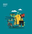 sport bike flat style design vector image vector image