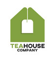 tea bag and real estate logo vector image vector image