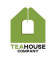 tea bag and real estate logo vector image