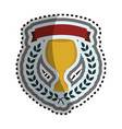 trophy winner isolated icon vector image