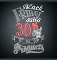 typographic black friday announcement vector image
