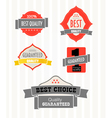 Vintage shopping labels and logo collection vector image