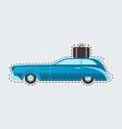 vintage travel car in patch style clip art for vector image vector image