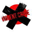 violent crime rubber stamp vector image
