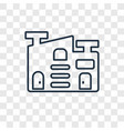 warehouse concept linear icon isolated on vector image