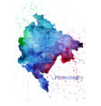 watercolor map montenegro stylized image with vector image