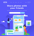 web site design template social media and vector image