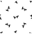 wedding doves pattern seamless black vector image vector image