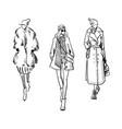 winter look fashion vector image vector image