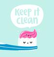 Keep it clean vector image