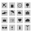 Set of icons travel vector image