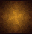 abstract brown polygonal background vector image vector image