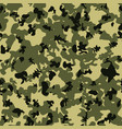 abstract camouflage khaki seamless pattern vector image