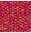 abstract red triangles background vector image vector image