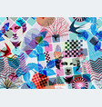 abstract seamless pattern surrealism style vector image vector image