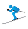 abstract winter sport symbol vector image