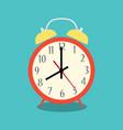 alarm clock red vector image vector image