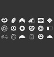 bakery icon set grey vector image