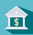 bank symbol with money vector image