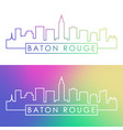 baton rouge city skyline colorful linear style vector image vector image